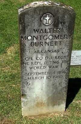 BURNETT (VETERAN WWI), WALTER MONTGOMERY - Lafayette County, Arkansas   WALTER MONTGOMERY BURNETT (VETERAN WWI) - Arkansas Gravestone Photos