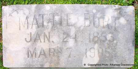 BURT, MATTIE - Lafayette County, Arkansas | MATTIE BURT - Arkansas Gravestone Photos