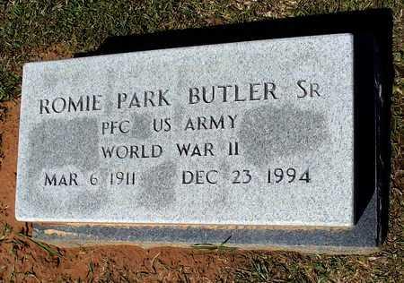 BUTLER, SR (VETERAN WWII), ROMIE PARK - Lafayette County, Arkansas | ROMIE PARK BUTLER, SR (VETERAN WWII) - Arkansas Gravestone Photos