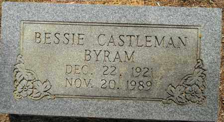 CASTLEMAN BYRAM, BESSIE - Lafayette County, Arkansas   BESSIE CASTLEMAN BYRAM - Arkansas Gravestone Photos