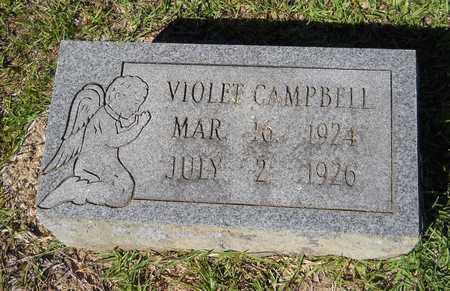 CAMPBELL, VIOLET - Lafayette County, Arkansas   VIOLET CAMPBELL - Arkansas Gravestone Photos