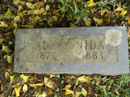 CANIDA, ADA - Lafayette County, Arkansas   ADA CANIDA - Arkansas Gravestone Photos