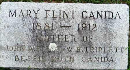 FLINT CANIDA, MARY - Lafayette County, Arkansas | MARY FLINT CANIDA - Arkansas Gravestone Photos