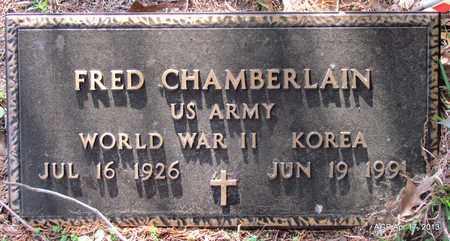 CHAMBERLAIN (VETERAN 2 WARS), FRED - Lafayette County, Arkansas   FRED CHAMBERLAIN (VETERAN 2 WARS) - Arkansas Gravestone Photos