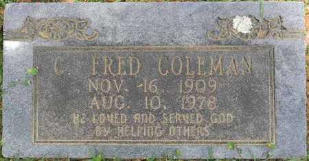 COLEMAN, C FRED - Lafayette County, Arkansas   C FRED COLEMAN - Arkansas Gravestone Photos