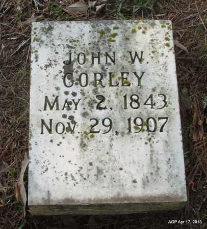 CORLEY, JOHN W - Lafayette County, Arkansas | JOHN W CORLEY - Arkansas Gravestone Photos