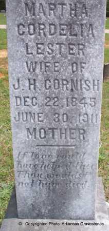 LESTER CORNISH, MARTHA CORDELIA - Lafayette County, Arkansas | MARTHA CORDELIA LESTER CORNISH - Arkansas Gravestone Photos