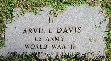 DAVIS (VETERAN WWII), ARVIL L - Lafayette County, Arkansas   ARVIL L DAVIS (VETERAN WWII) - Arkansas Gravestone Photos