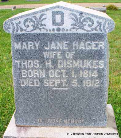 DISMUKES, MARY JANE - Lafayette County, Arkansas | MARY JANE DISMUKES - Arkansas Gravestone Photos