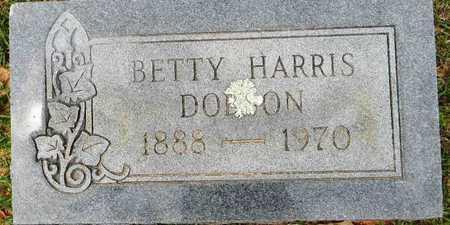 HARRIS DOBSON, BETTY - Lafayette County, Arkansas | BETTY HARRIS DOBSON - Arkansas Gravestone Photos