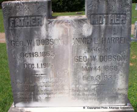 DOBSON, GEO W - Lafayette County, Arkansas   GEO W DOBSON - Arkansas Gravestone Photos