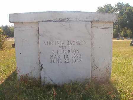 JACKSON DOBSON, VIRGINIA - Lafayette County, Arkansas   VIRGINIA JACKSON DOBSON - Arkansas Gravestone Photos