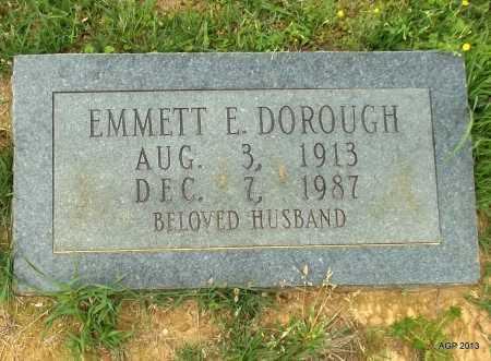 DOROUGH, EMMETT E - Lafayette County, Arkansas | EMMETT E DOROUGH - Arkansas Gravestone Photos