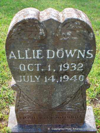 DOWNS, ALLIE - Lafayette County, Arkansas | ALLIE DOWNS - Arkansas Gravestone Photos