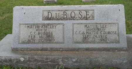 DUBOSE, MATTIE - Lafayette County, Arkansas | MATTIE DUBOSE - Arkansas Gravestone Photos