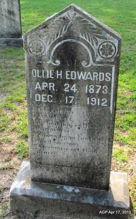 EDWARDS, OLLIE H - Lafayette County, Arkansas | OLLIE H EDWARDS - Arkansas Gravestone Photos