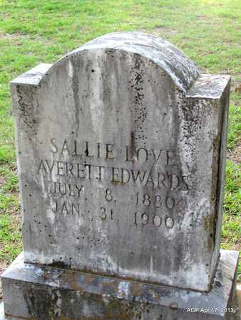 EDWARDS, SALLIE LOVE - Lafayette County, Arkansas | SALLIE LOVE EDWARDS - Arkansas Gravestone Photos