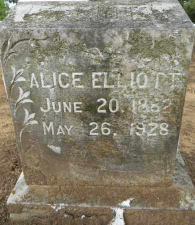 ELLIOTT, ALICE - Lafayette County, Arkansas | ALICE ELLIOTT - Arkansas Gravestone Photos