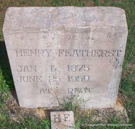 FEATHERSTON, HENRY - Lafayette County, Arkansas | HENRY FEATHERSTON - Arkansas Gravestone Photos