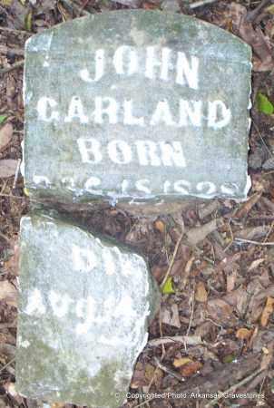 GARLAND, JOHN - Lafayette County, Arkansas   JOHN GARLAND - Arkansas Gravestone Photos