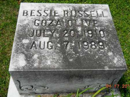 RUSSELL OLIVE, BESSIE - Lafayette County, Arkansas | BESSIE RUSSELL OLIVE - Arkansas Gravestone Photos
