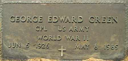 GREEN (VETERAN WWII), GEORGE EDWARD - Lafayette County, Arkansas | GEORGE EDWARD GREEN (VETERAN WWII) - Arkansas Gravestone Photos