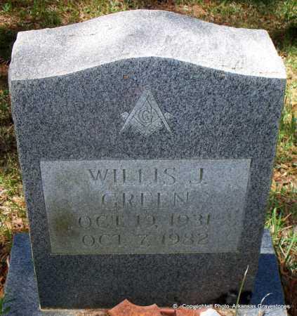 GREEN, WILLIS J - Lafayette County, Arkansas | WILLIS J GREEN - Arkansas Gravestone Photos