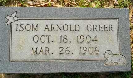 GREER, ISOM ARNOLD - Lafayette County, Arkansas | ISOM ARNOLD GREER - Arkansas Gravestone Photos