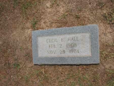 HALL, CECIL E - Lafayette County, Arkansas | CECIL E HALL - Arkansas Gravestone Photos