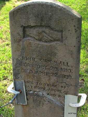 HALL, JOHN KIRK - Lafayette County, Arkansas   JOHN KIRK HALL - Arkansas Gravestone Photos