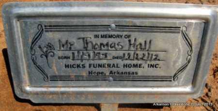 HALL, THOMAS - Lafayette County, Arkansas   THOMAS HALL - Arkansas Gravestone Photos