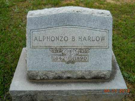 HARLOW, ALPHONZO B - Lafayette County, Arkansas   ALPHONZO B HARLOW - Arkansas Gravestone Photos