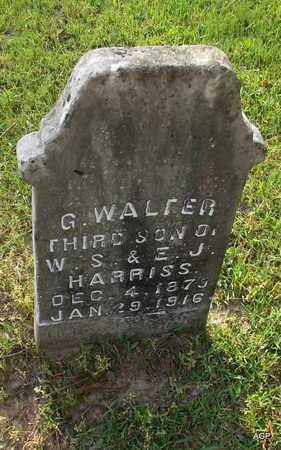 HARRISS, G WALTER - Lafayette County, Arkansas | G WALTER HARRISS - Arkansas Gravestone Photos
