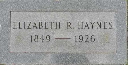 HAYNES, ELIZABETH R - Lafayette County, Arkansas | ELIZABETH R HAYNES - Arkansas Gravestone Photos
