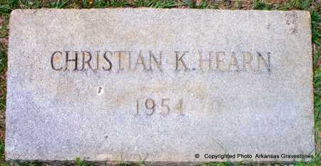 HEARN, CHRISTIAN K - Lafayette County, Arkansas | CHRISTIAN K HEARN - Arkansas Gravestone Photos