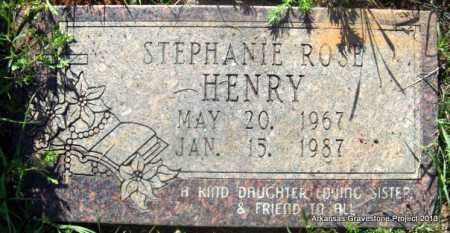 HENRY, STEPHANIE ROSE - Lafayette County, Arkansas | STEPHANIE ROSE HENRY - Arkansas Gravestone Photos