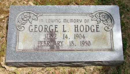 HODGE, GEORGE L - Lafayette County, Arkansas   GEORGE L HODGE - Arkansas Gravestone Photos