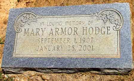 ARMOR HODGE, MARY - Lafayette County, Arkansas   MARY ARMOR HODGE - Arkansas Gravestone Photos