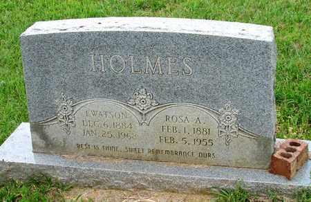 HOLMES, I. WATSON - Lafayette County, Arkansas   I. WATSON HOLMES - Arkansas Gravestone Photos