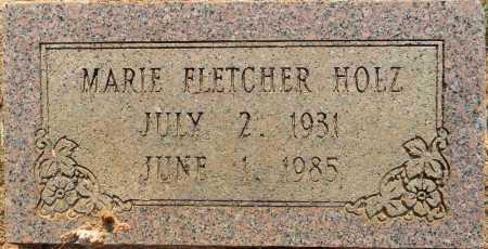 FLETCHER HOLZ, MARIE - Lafayette County, Arkansas   MARIE FLETCHER HOLZ - Arkansas Gravestone Photos