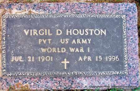 HOUSTON (VETERAN WWI), VIRGIL D - Lafayette County, Arkansas   VIRGIL D HOUSTON (VETERAN WWI) - Arkansas Gravestone Photos