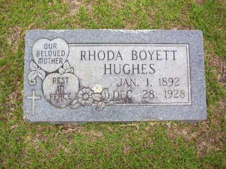 BOYETT HUGHES, RHODA - Lafayette County, Arkansas   RHODA BOYETT HUGHES - Arkansas Gravestone Photos
