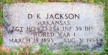 JACKSON (VETERAN WWI), D K - Lafayette County, Arkansas | D K JACKSON (VETERAN WWI) - Arkansas Gravestone Photos