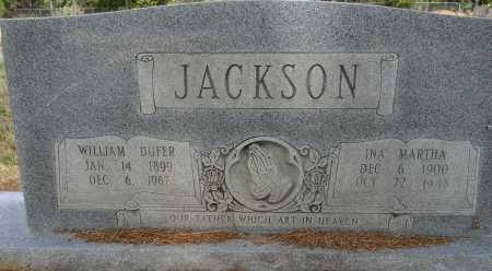 JACKSON, WILLIAM DUFER - Lafayette County, Arkansas | WILLIAM DUFER JACKSON - Arkansas Gravestone Photos