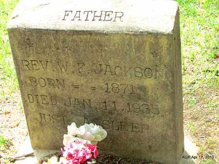 JACKSON, W. F., REV. - Lafayette County, Arkansas   W. F., REV. JACKSON - Arkansas Gravestone Photos