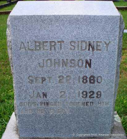 JOHNSON, ALBERT SIDNEY - Lafayette County, Arkansas | ALBERT SIDNEY JOHNSON - Arkansas Gravestone Photos