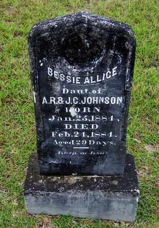 JOHNSON, BESSIE ALLICE - Lafayette County, Arkansas   BESSIE ALLICE JOHNSON - Arkansas Gravestone Photos