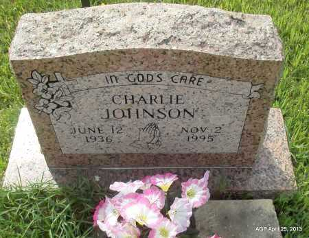 JOHNSON, CHARLIE - Lafayette County, Arkansas | CHARLIE JOHNSON - Arkansas Gravestone Photos