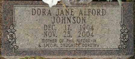 JOHNSON, DORA JANE - Lafayette County, Arkansas | DORA JANE JOHNSON - Arkansas Gravestone Photos
