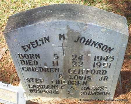 JOHNSON, EVELYN M - Lafayette County, Arkansas   EVELYN M JOHNSON - Arkansas Gravestone Photos